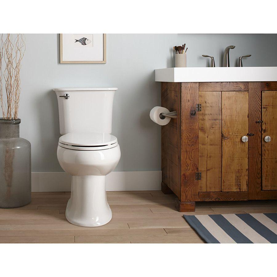 Kohler Cavata White Watersense Dual Flush Chair Height 2 Piece Toilet