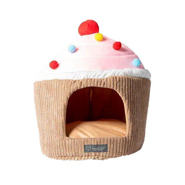 Buy Nandog Cupcake Hut Small Dog & Cat Bed, Pink at Chewy
