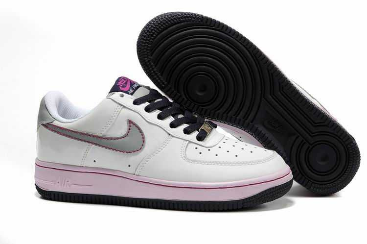 UK Market - Nike Air Force 1 Low Womens White Silver Doll Cave Purple  Trainers