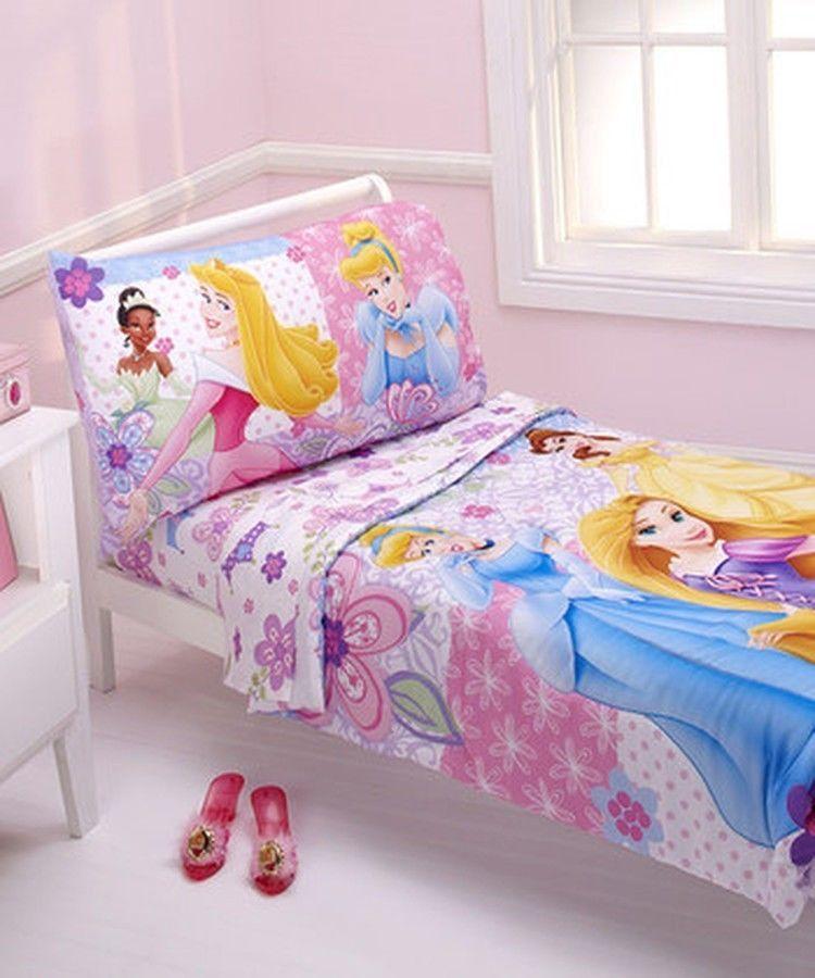 Disney Princess 4 Piece Toddler Bedding Set - Girls Pink ...