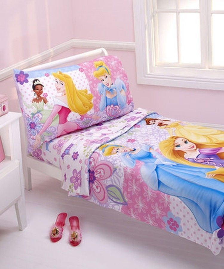 Disney Princess 4 Piece Toddler Bedding Set Girls Pink Rapunzel