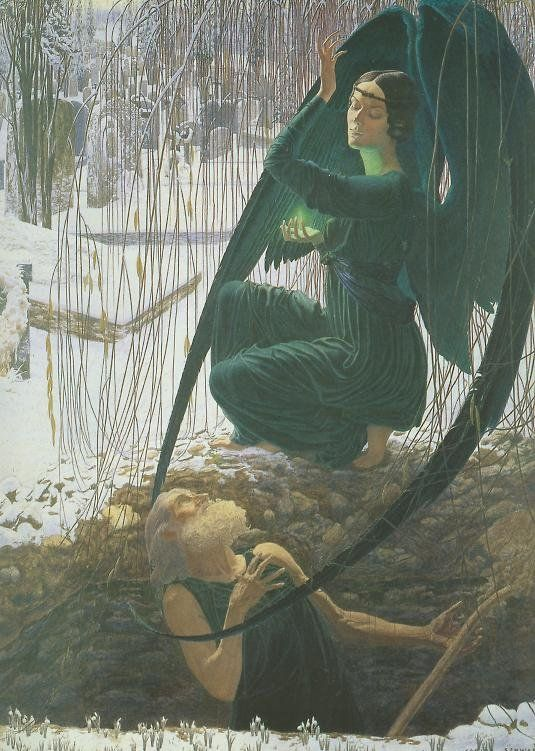 The Gravedigger's Death, by Carlos Schwabe.