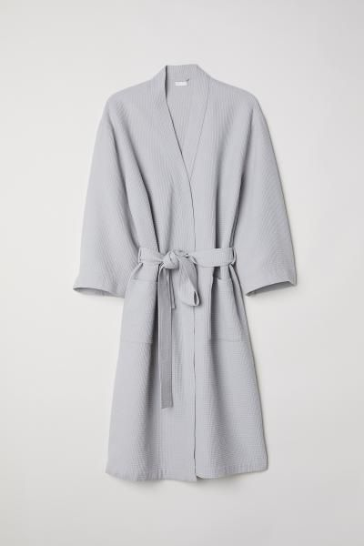 Waffled dressing gown | Waffles, Woven cotton and Robe