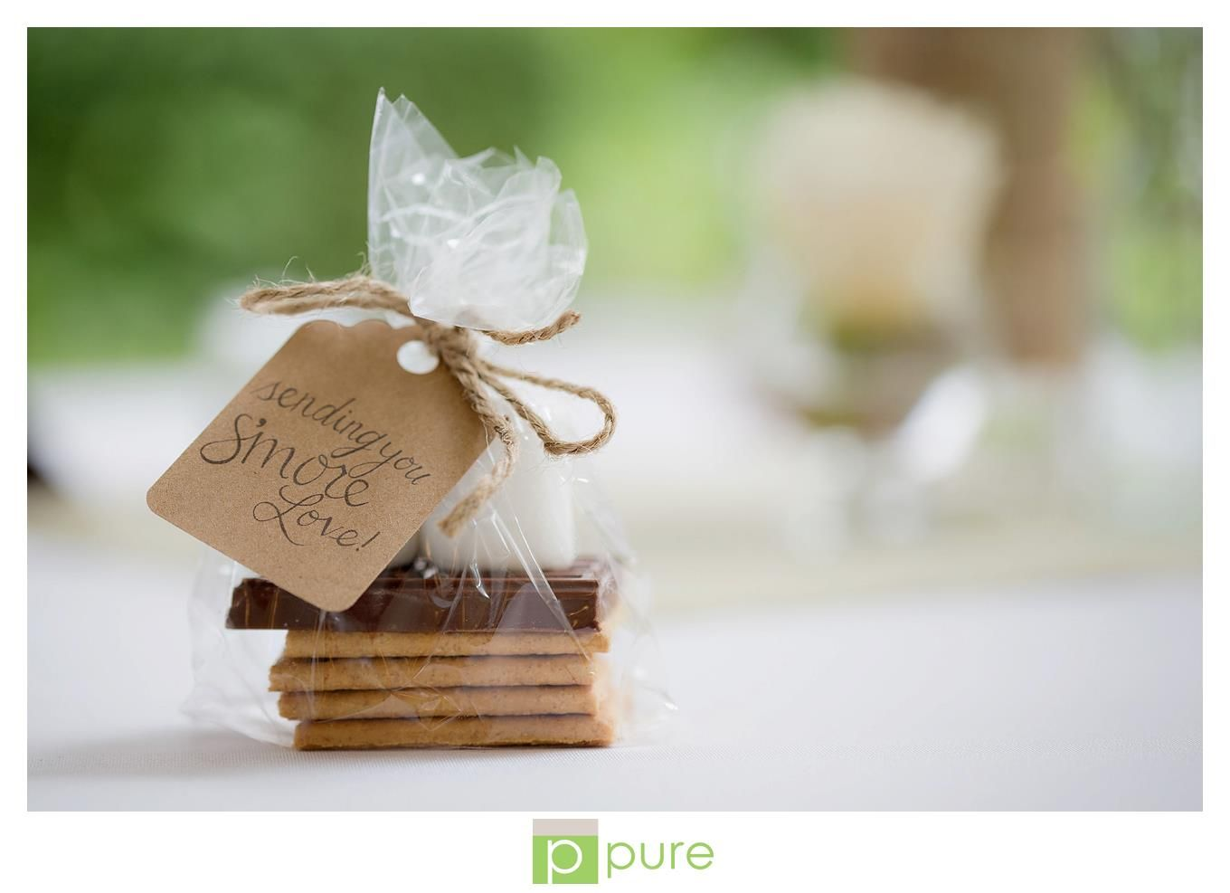 I like these edible favors for guests at a casual/semi-formal event ...