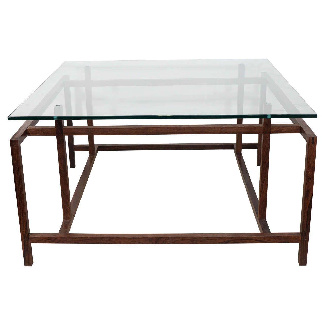 Henning Norgaard Modern Rosewood Coffee Table With Glass Top For Komfort Coffee Table Glass Top Coffee Table Danish Modern Coffee Table [ 1280 x 1280 Pixel ]