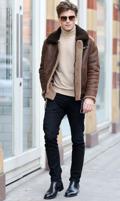 Men's Street Style - The Shearling