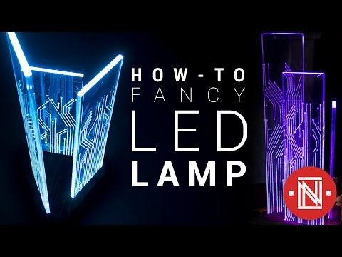 Glowing Circuit Board Lamp: 14 Steps (with Pictures)   Led