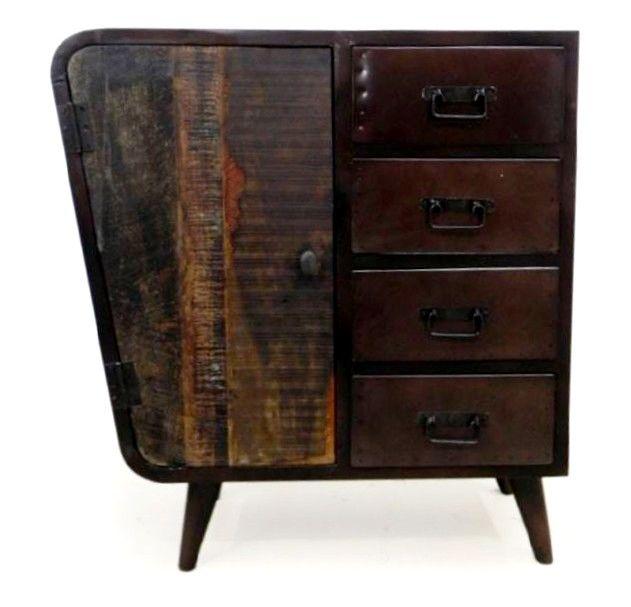 Desserte bois et fer, style industriel et scandinave, meuble de - meuble en fer design