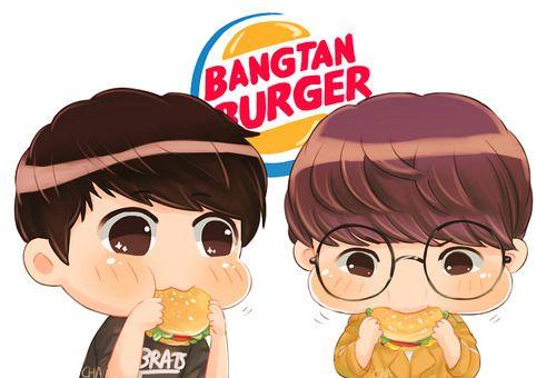 Jungkook and V #Fanart #BTS #BangtanBurger