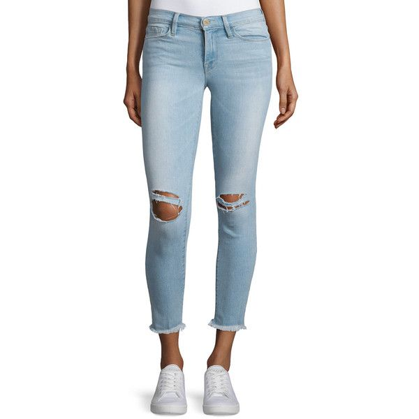 faded distressed cropped jeans - Blue Frame Denim 0L8a1Ak