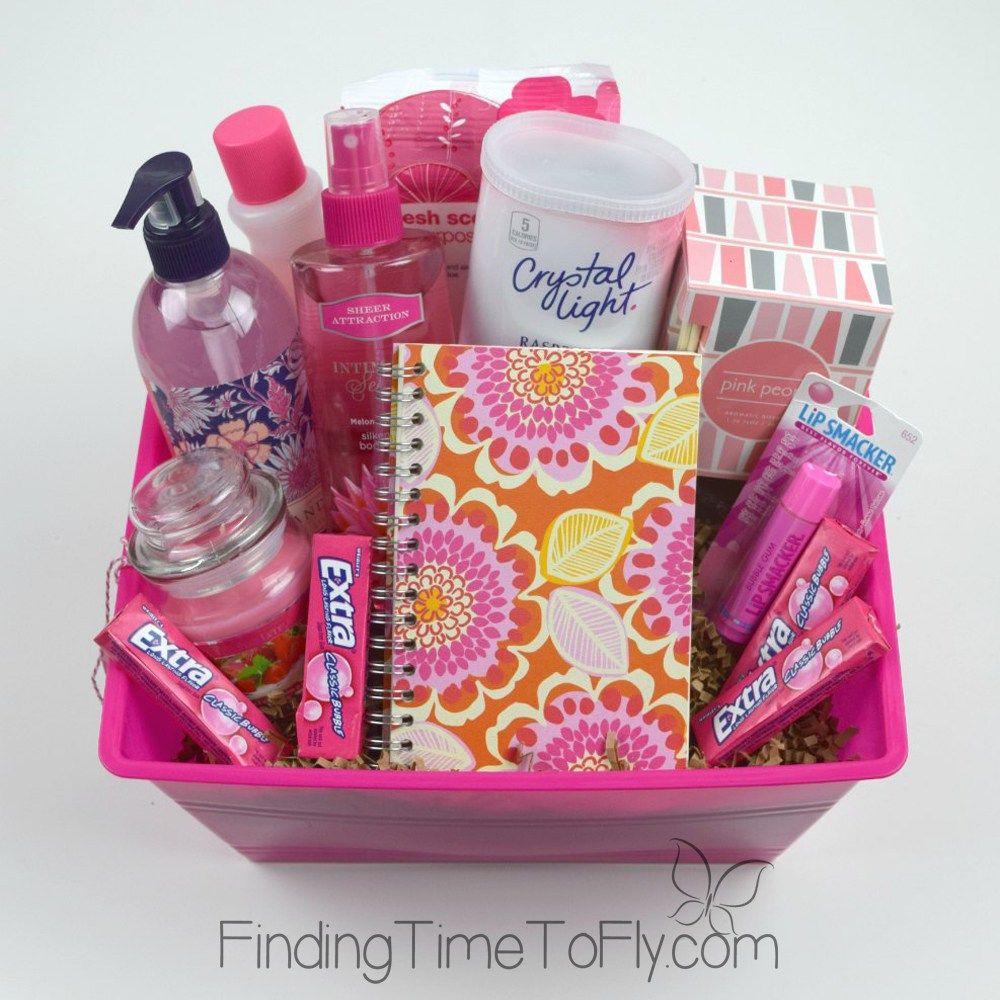 Diy gift baskets pink gift basket themed gift baskets