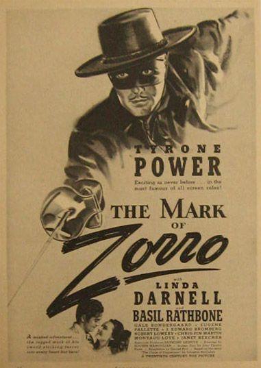 24x36 The Mark of Zorro Vintage Movie Poster