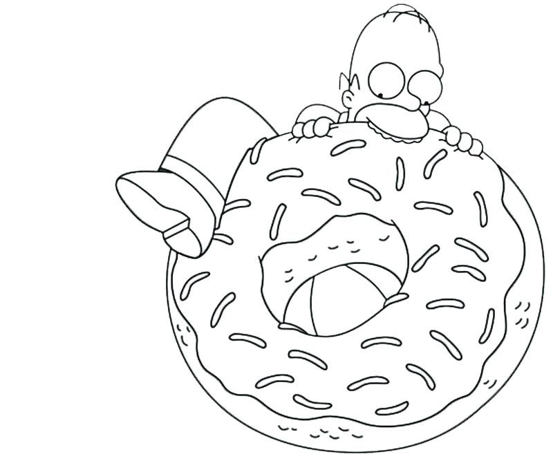 Funny Coloring Pages Homer Simpson Donut Coloring Page Coloring Pages Cartoon Coloring Pages