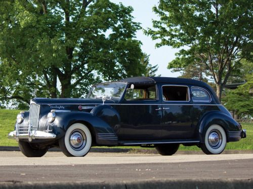 """oldschooliscool:  """"1941 Packard Super Eight One-Eighty All-Weather Town Car with custom coachwork by Rollson. The waning days of the catalog customs certainly went out with a bang. A true Town Car on a 148 inch wheelbase leaves no room for modesty.  """""""