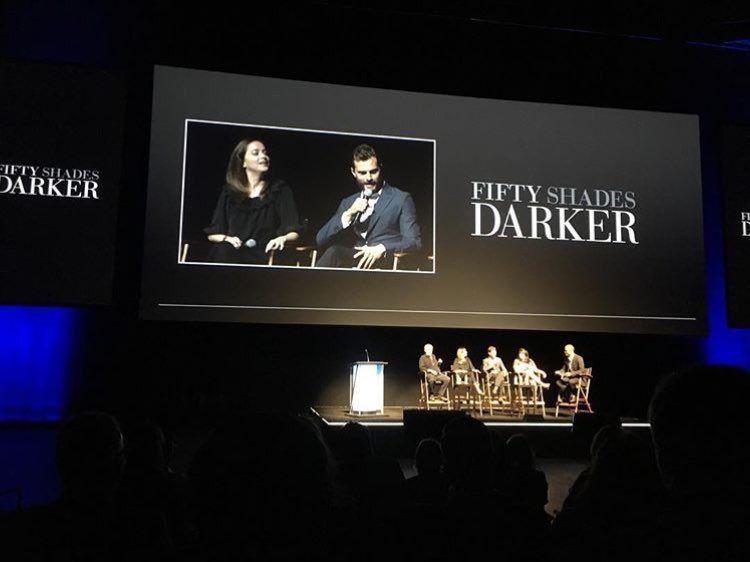 Fifty Shades Updates: PHOTOS: Jamie Dornan, Dakota Johnson, E L James & James Foley promote Fifty Shades Darker