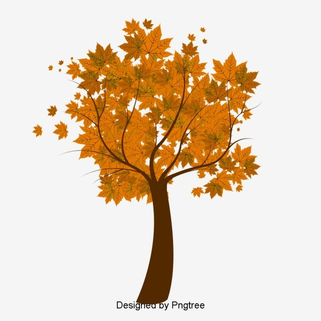 Vector Autumn Maple Leaf Vector Leaves Branch Tree Cartoon Vector