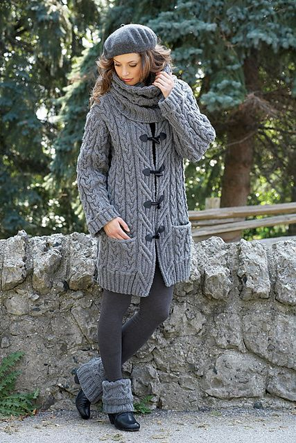 Ravelry: Cable Car Coat pattern by Bernat Design Studio | Keepin ...