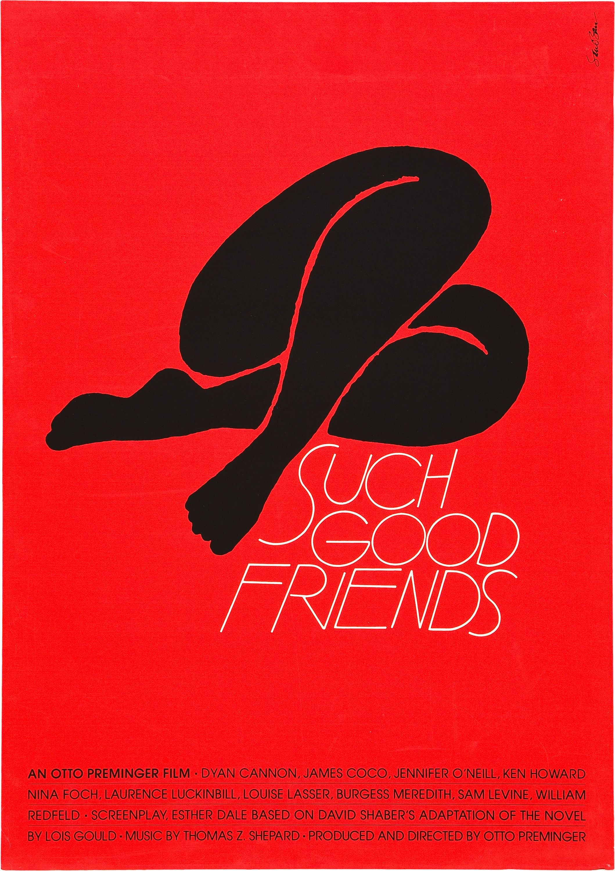 A good poster design - Such Good Friends 1971 Saul Bassposter Designsfilm
