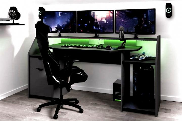 Gaming Gaming In 2020 Gaming Desk Custom Gaming Desk Charming