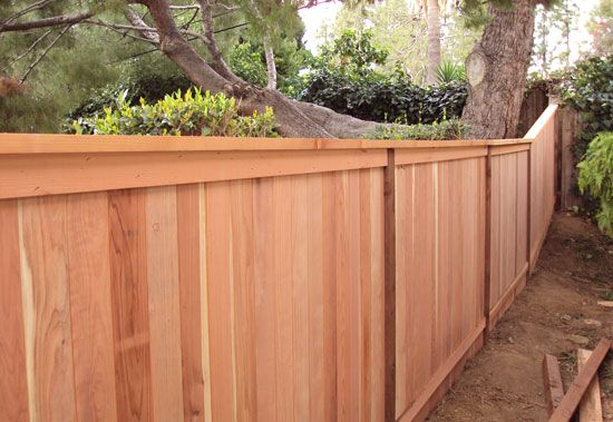 Redwood Fence Same On Both Sides How To Construct Building