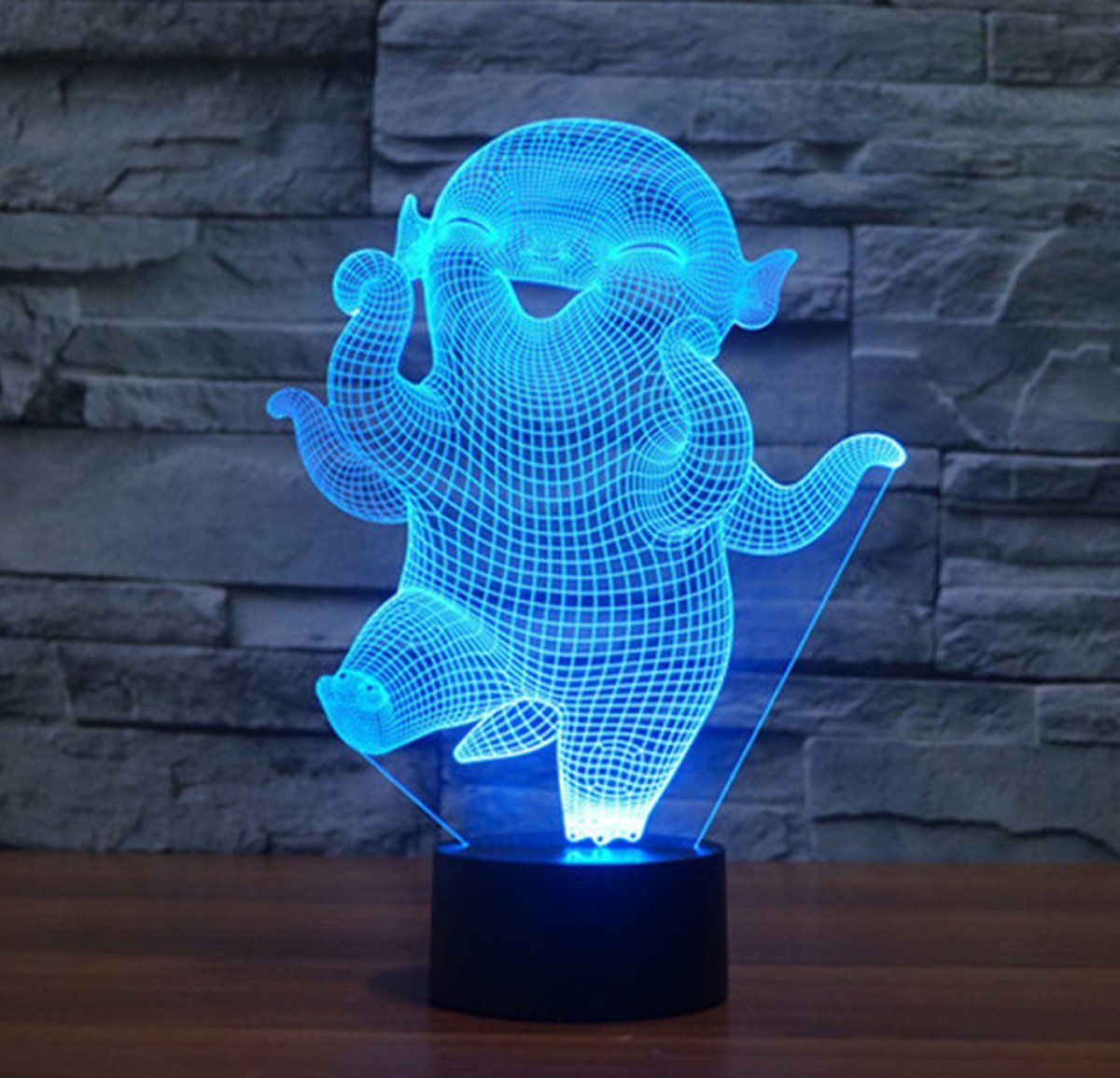 Hoba 3d Led Touch Illusion Lamp Stunning Visual Three Dimensional Effect 7 Colors Changing Creative Design Led Desk Lamp Night Light C Nochnye Ogni Nochnik Lampa