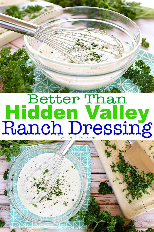 Better Than Hidden Valley Ranch Dressing Homemade Ranch Dressing Buttermilk Ranch Dressing Recipe Homemade Hidden Valley Ranch Dressing