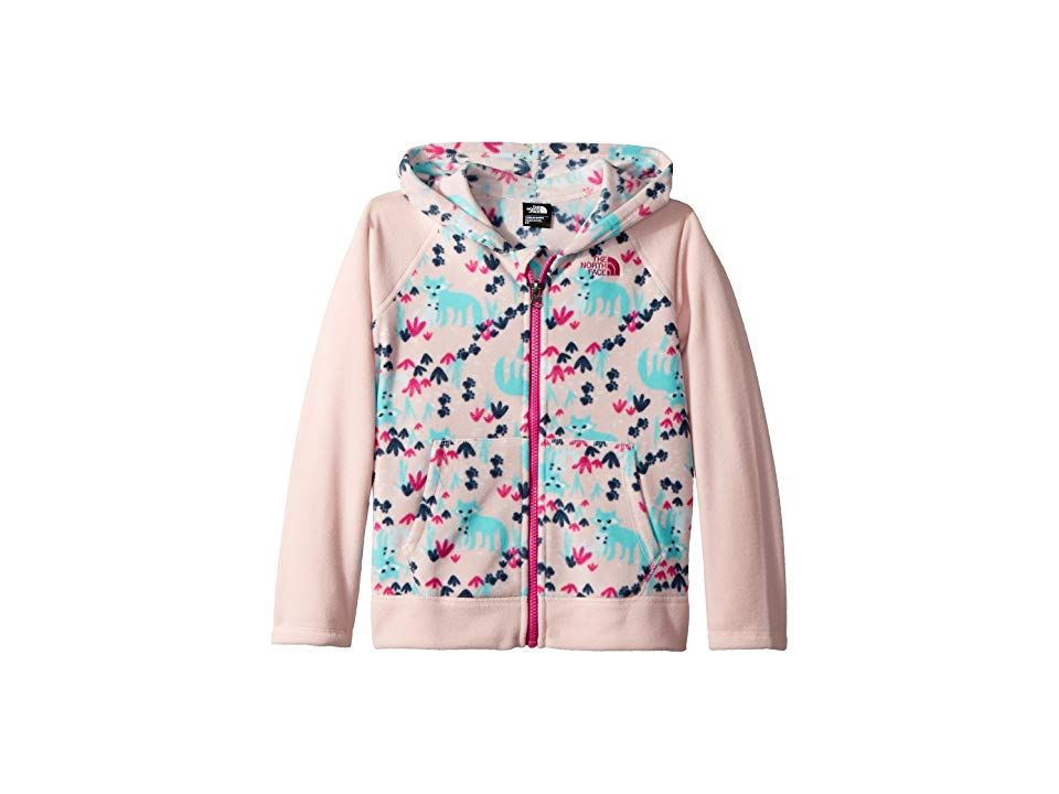 5550743a7 The North Face Kids Glacier Full Zip Hoodie (Toddler) (Purdy Pink Fox  Floral Print) Girl's Sweatshirt. A durable fleece hoodie that's perfect for  layering ...
