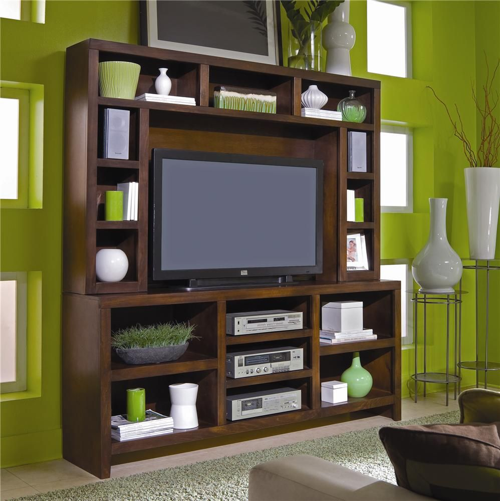 Essentials lifestyle inch console u hutch wall unit by aspenhome