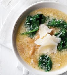 Clean Eating magazine Stracciatella Soup with White Beans