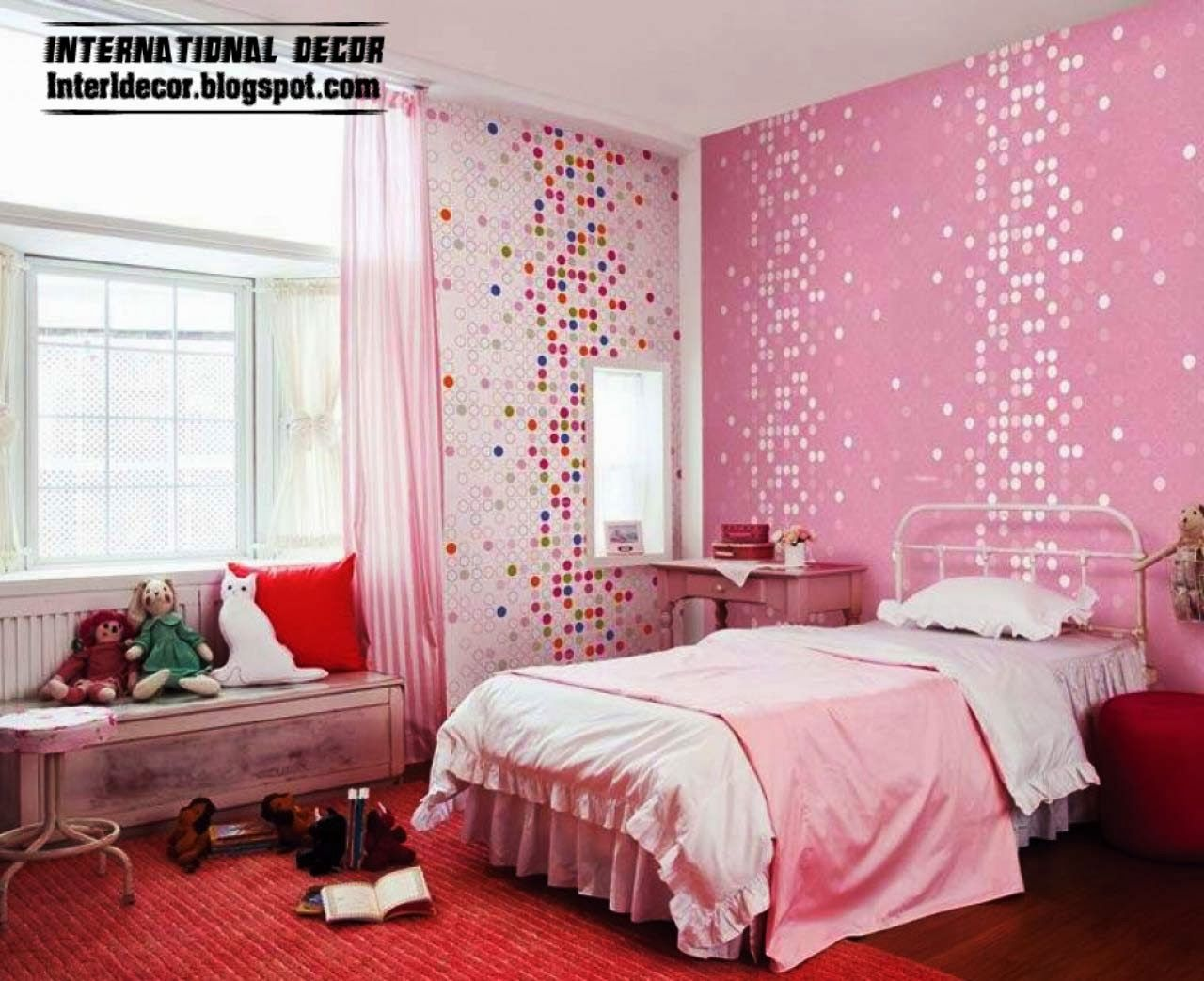 Bedroom Houses Ideas 2014 Pink Girls Bedroom Ideas 2014 Modern Girls Room Pink I Love The Bac Pink Bedroom Design Girl Bedroom Decor Girls Bedroom Wallpaper
