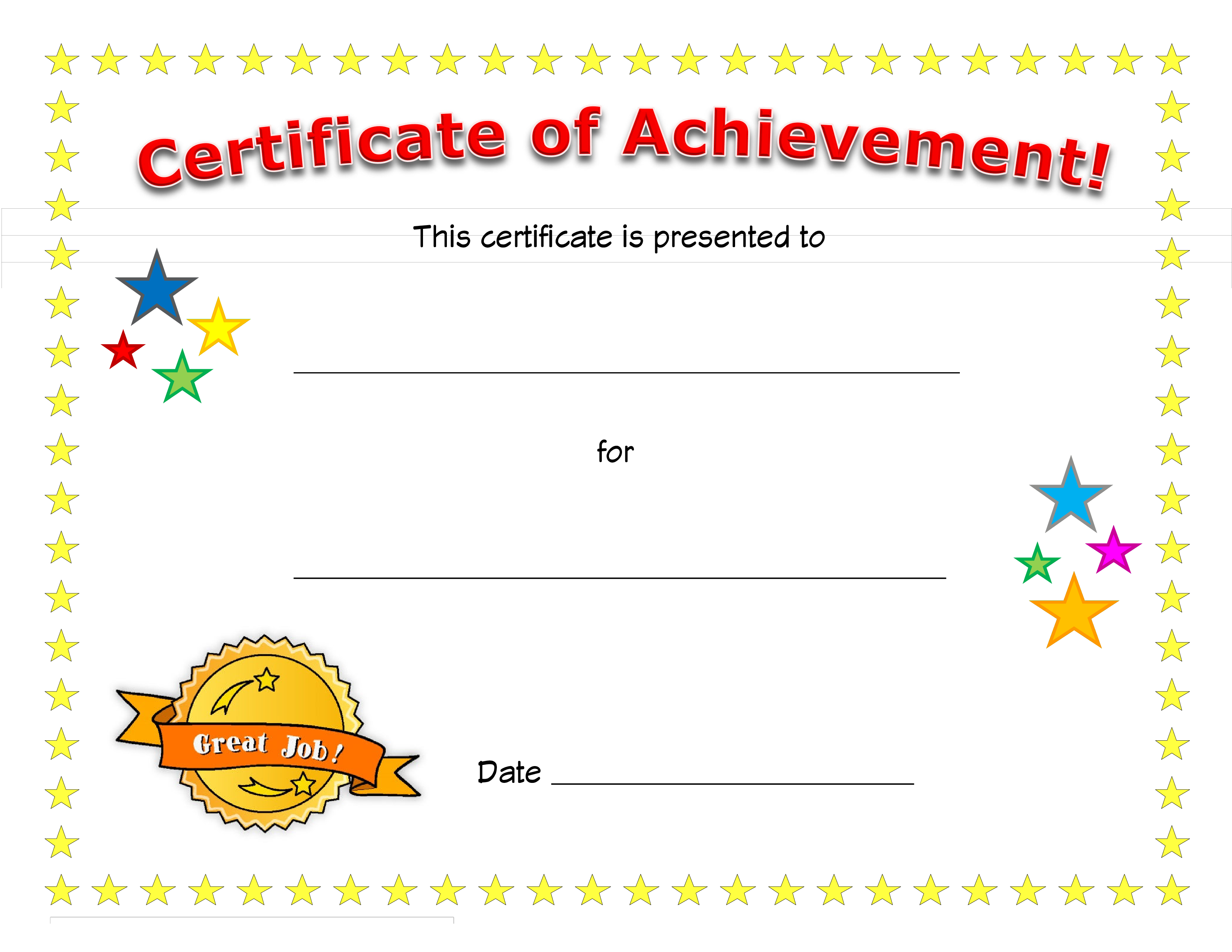 Blank Certificate Of Achievement How To Create A Certifi Certificate Of Achievement Template Certificate Of Achievement Certificate Of Participation Template