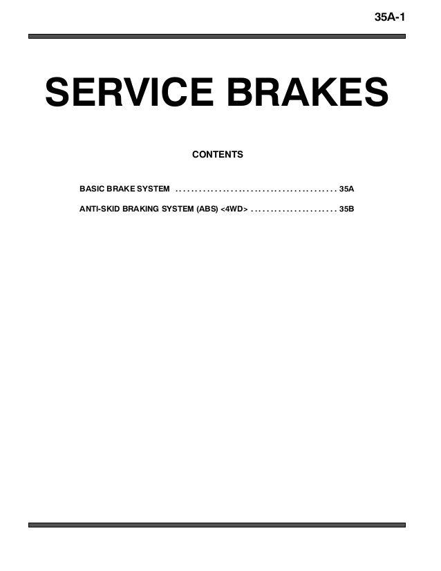 2005 MITSUBISHI MONTERO PAJERO Service Repair Manual en