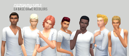 Sims 4 Custom Content Finds - Male Base Game Hair Recolors