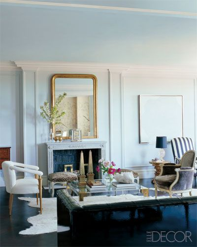 Nate Berkus  William Waldron via Elle Decor eclectic traditional modern living room