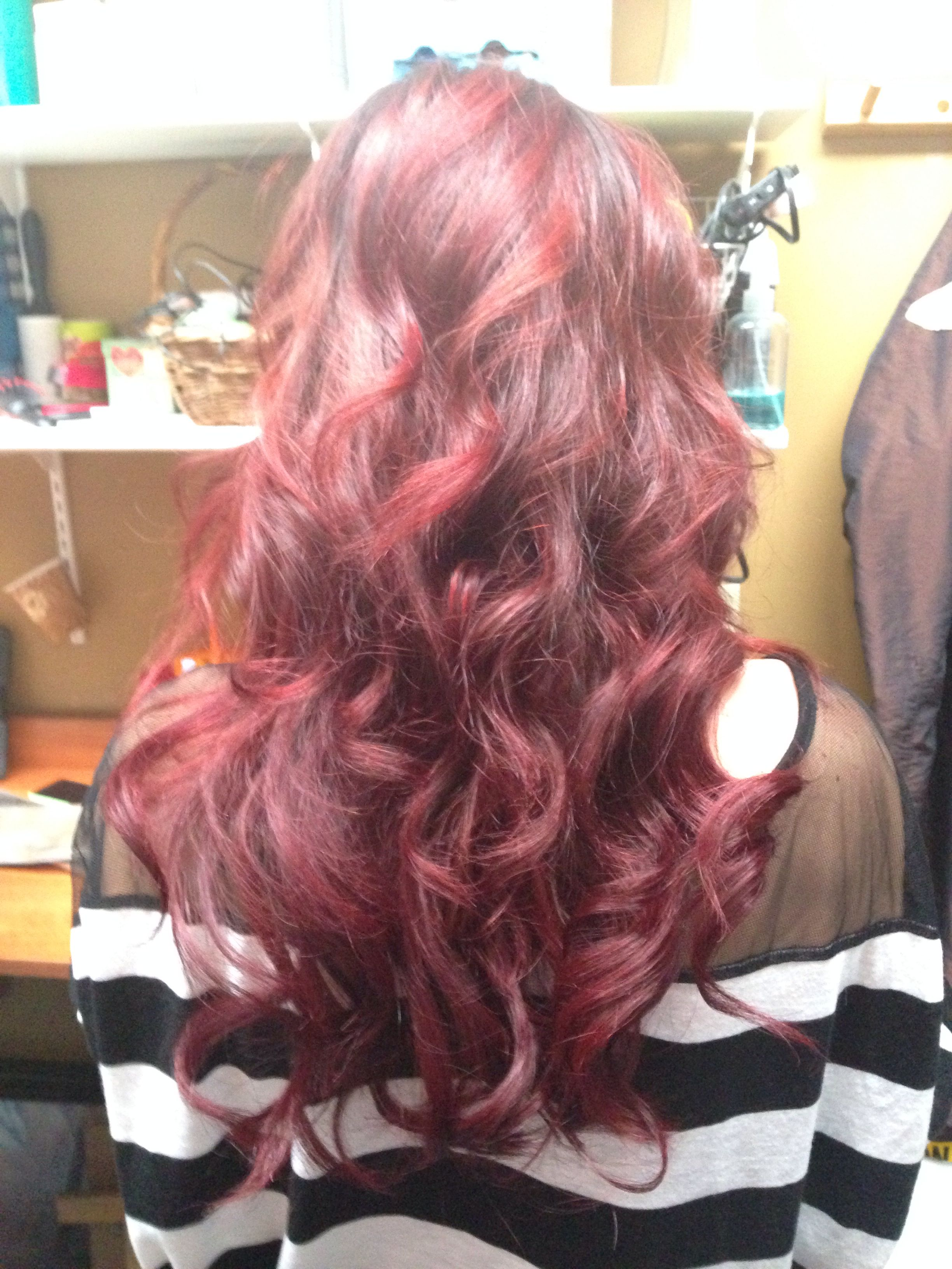 Red Hair Extensions Hair By Sarah Mascara Hairstylist In