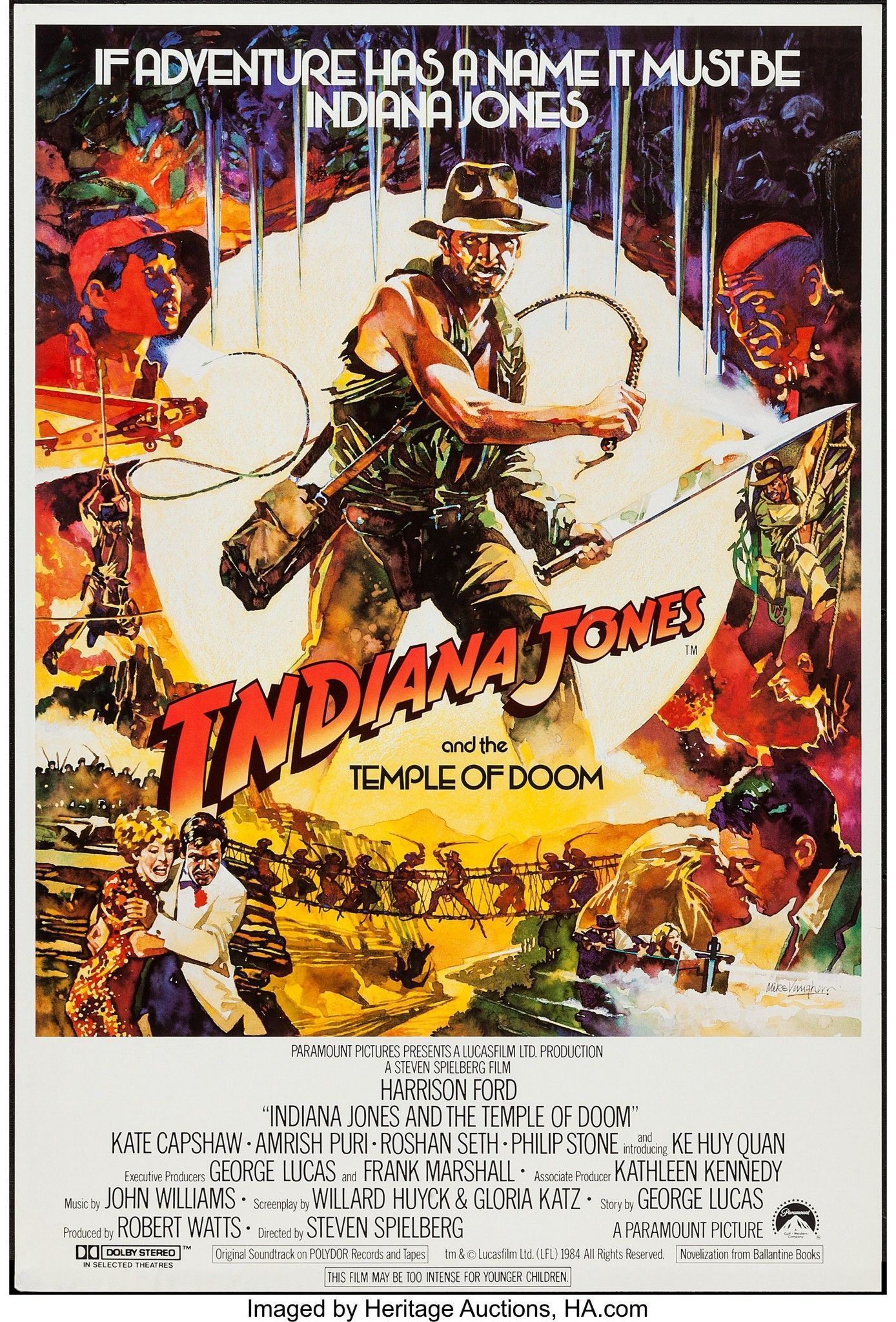 Indiana Jones And The Temple Of Doom 1984 Indiana Jones Movie Posters Indie Movie Posters