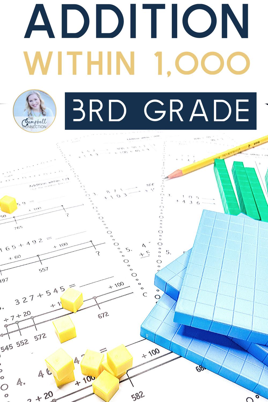 Addition Worksheets 3rd Grade Math Activities Elementary 3rd Grade Math 3rd Grade Math Worksheets [ 1500 x 1000 Pixel ]