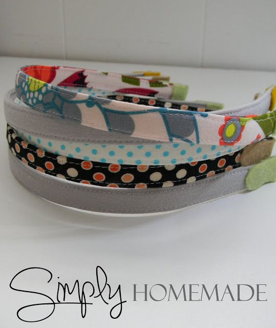 simply homemade: Fabric covered headband tutorial