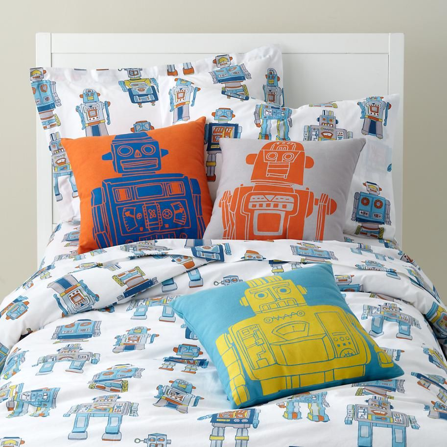 Kids' Bedding Robot Duvet Cover in Quilts & Duvet Covers