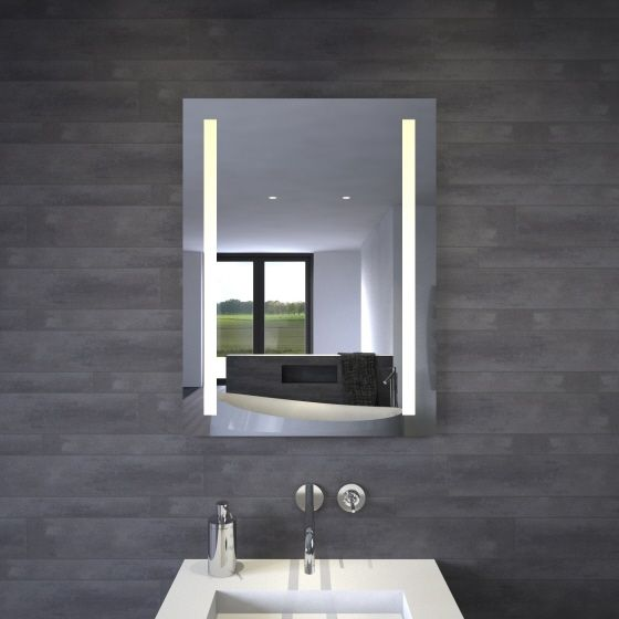 verticale spiegel met led verlichting