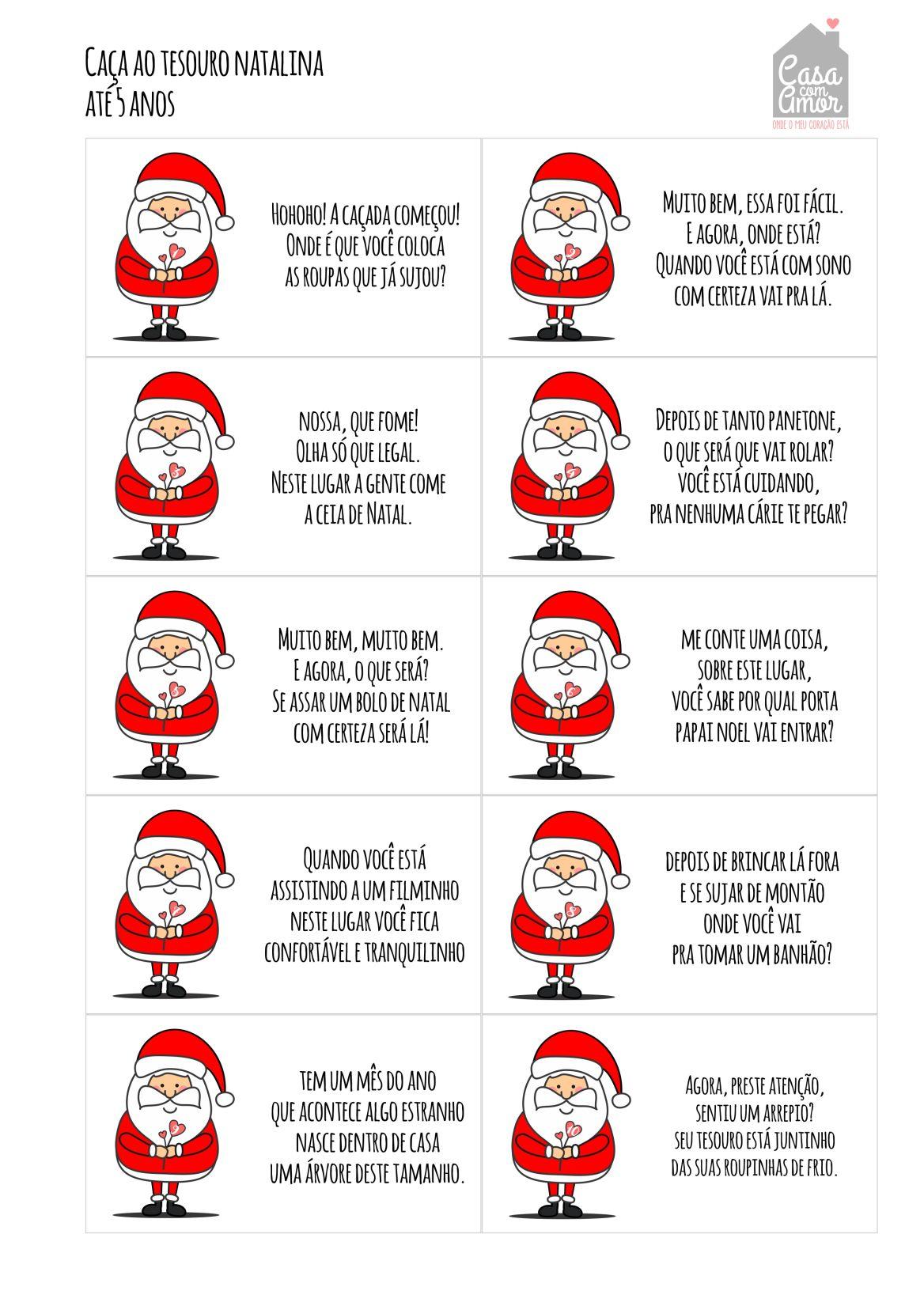 Caça Ao Tesouro Natalina Christmas Feelings Caça Natal E Caça