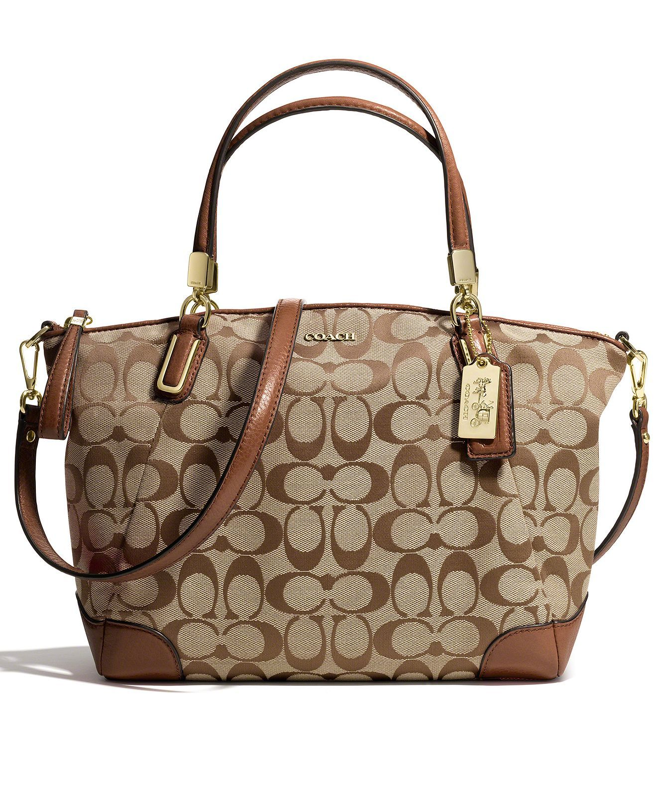 COACH MADISON SMALL KELSEY SATCHEL IN SIGNATURE FABRIC - COACH - Handbags    Accessories - Macy s d6d0acb966285