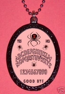 Ouija Board Black Widow Spiders necklace by sweetheartsinner on Etsy
