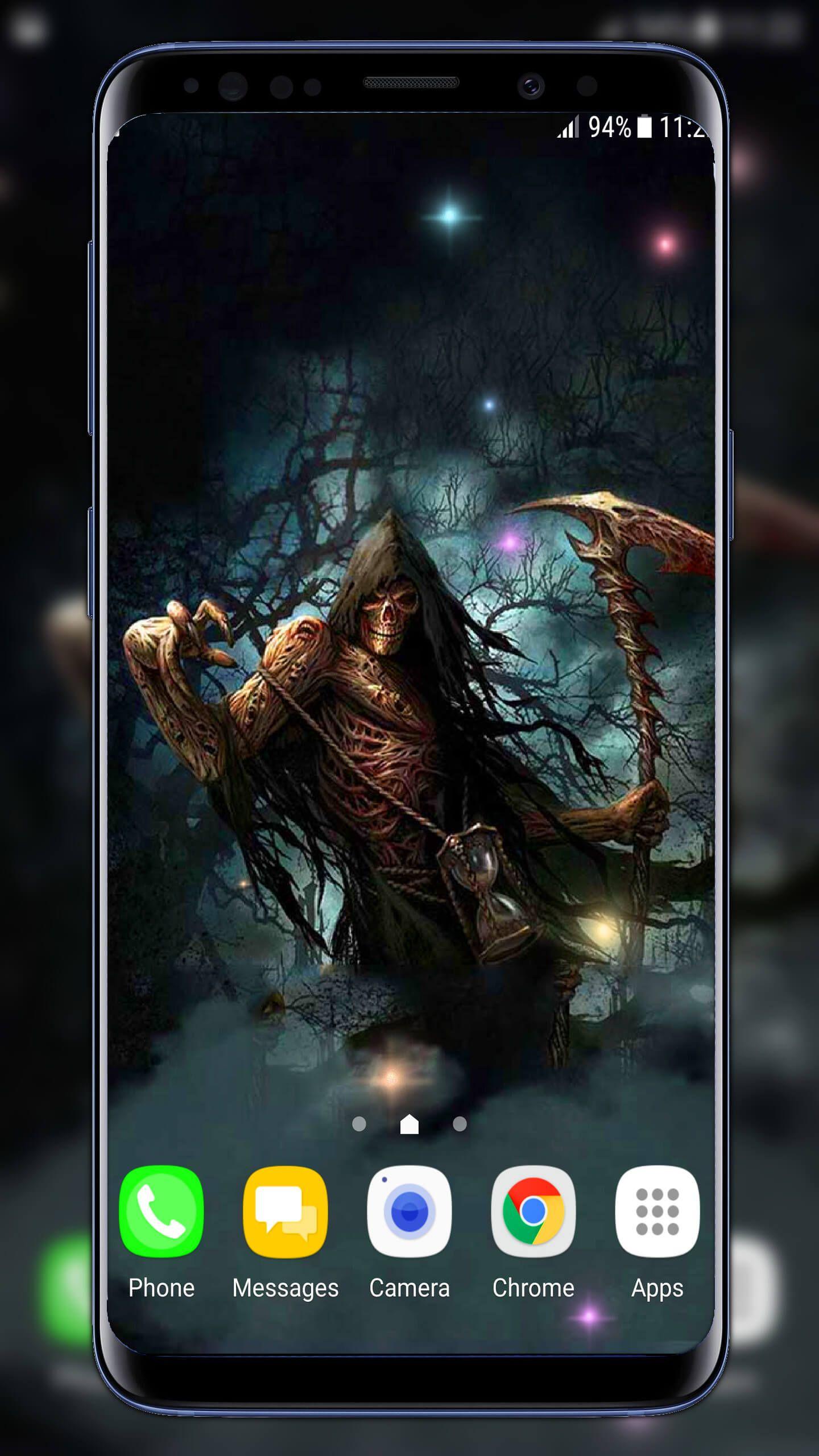 Grim Reaper Live Wallpaper Horror Halloween Wallpaper Med Bilder