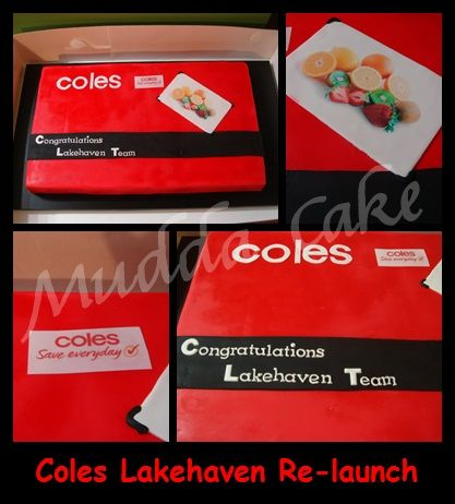 Coles Corporate Cake