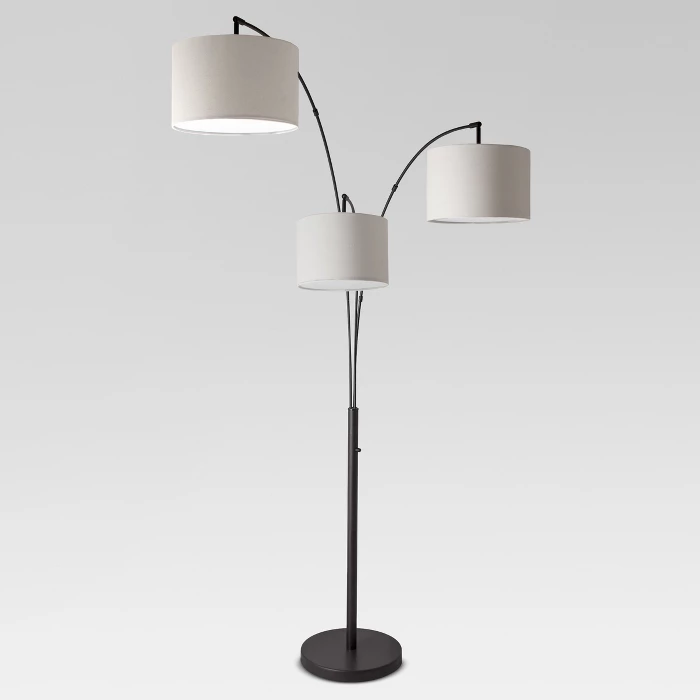 Avenal Shaded Arc Floor Lamp Project 62 Target Black Floor
