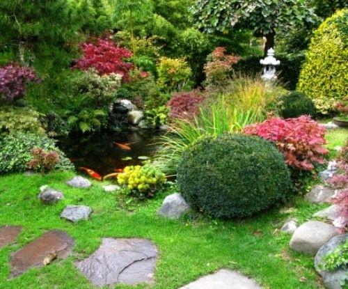 Ideen Gunstige Gartengestaltung Koi Karpfen Teich Garten