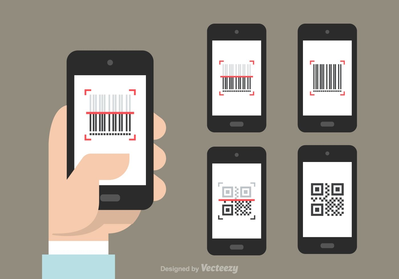 QR And Barcode Scanner Vector Icons. Choose from thousands