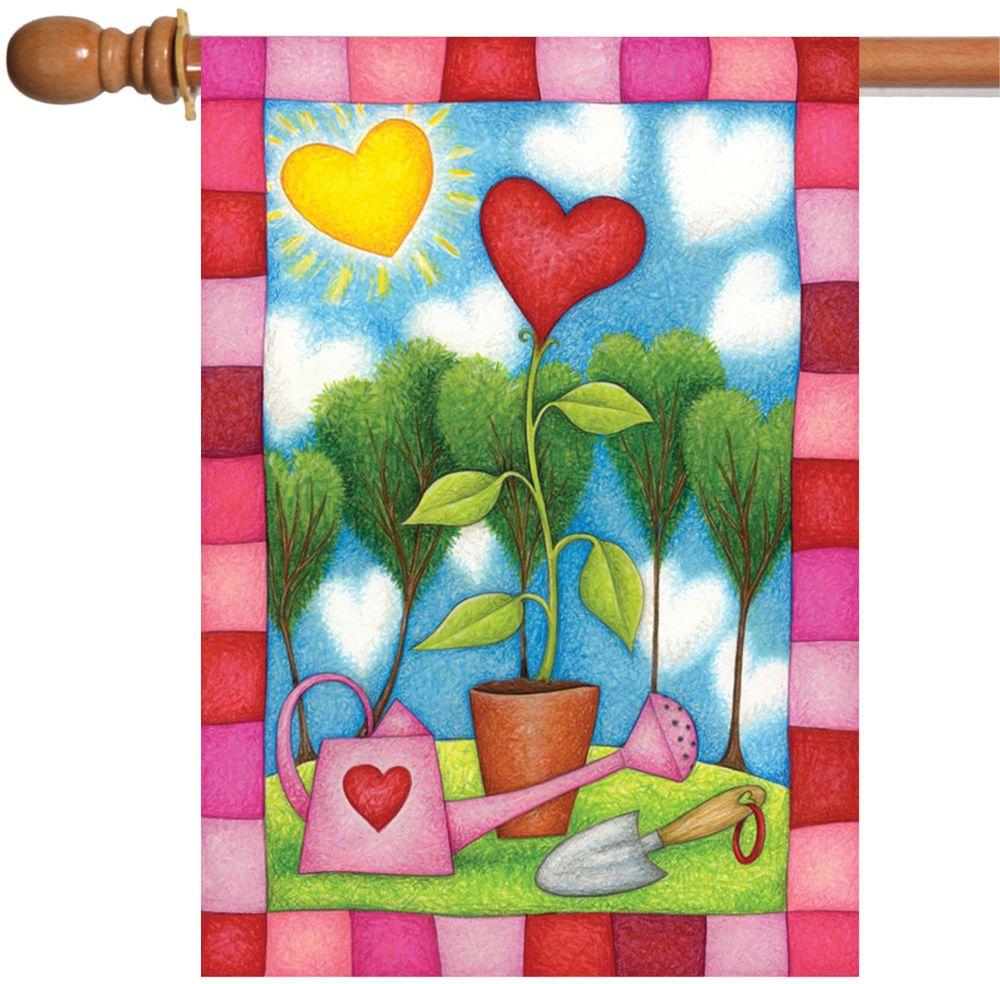 NEW Toland - Heart Garden - Bright Sun Flower Spring Valentine House ...