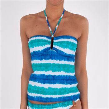 Lauren Ralph Lauren Tie-Dye Bandeau Tankini Top #VonMaur #LaurenRalphLauren #Swimwear